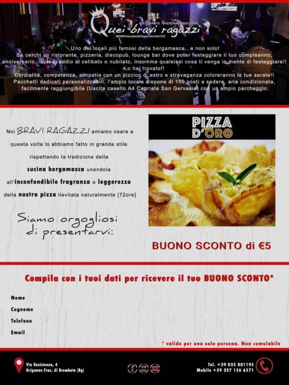 Pizza d′oro buono sconto