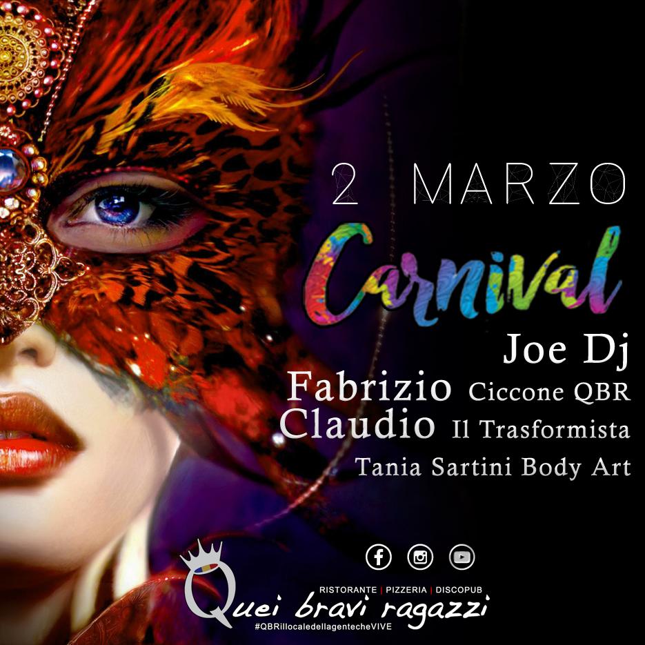 Carnevale al QBR parte 1 – 2 Marzo