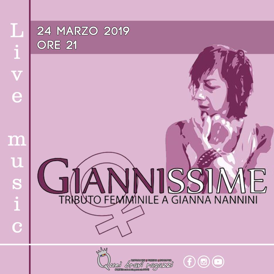 Le Giannissime tributo Gianna Nannini – 24 Marzo