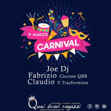 Carnevale al QBR parte 2 – 9 Marzo