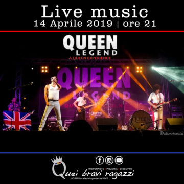 Queen legend tribute – 14 Aprile