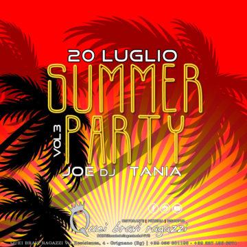 SUMMER PARTY VOL.3 – 20 LUGLIO
