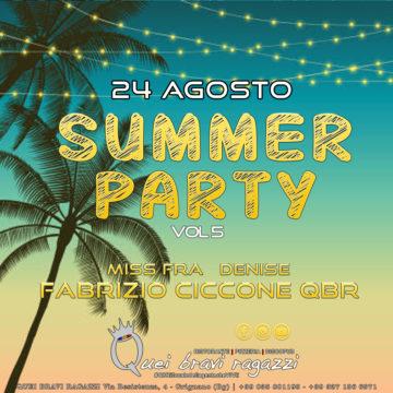 Summer Party – 24 Agosto