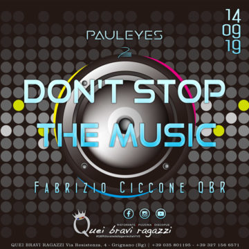 DON'T STOP THE MUSIC – 14 SETTEMBRE
